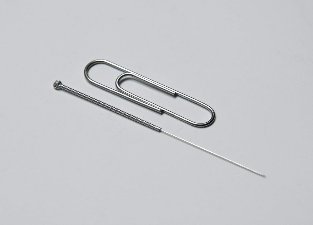 Acupuncture Needle with Paperclip