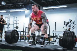 Man heavy lifting