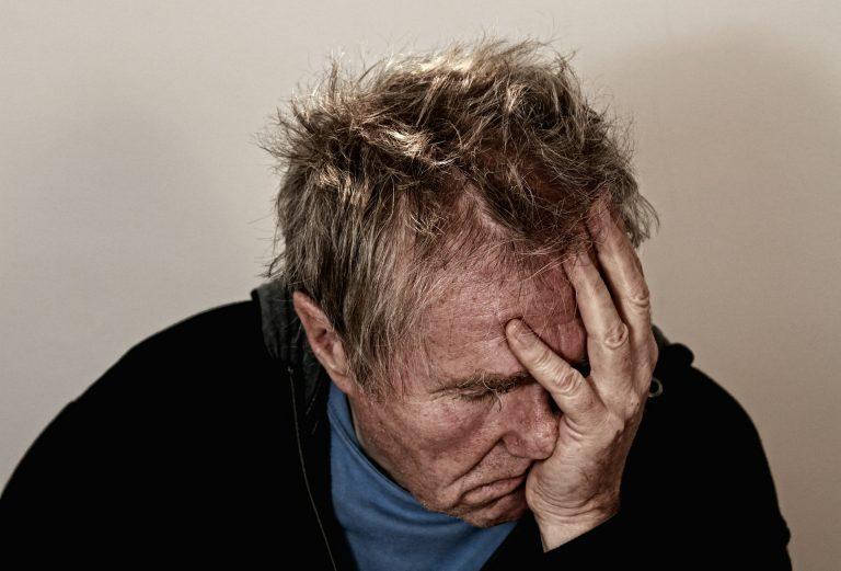 Man feeling ill