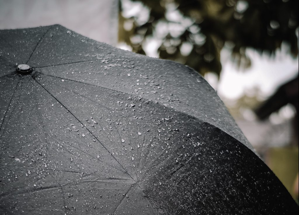 Umbrella in the rain: Damp - a form of Yin Excess