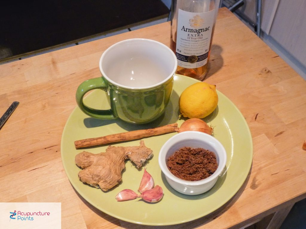 Hot Toddy Ingredients for Wind Cold self-treatment