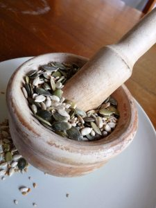 Seeds for Digestion, helping Heart and Kidney yin deficiency with Empty Heat
