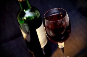 Wine is warming and Heat is another cause of Stomach Blood stasis and damp-heat in the large intestine