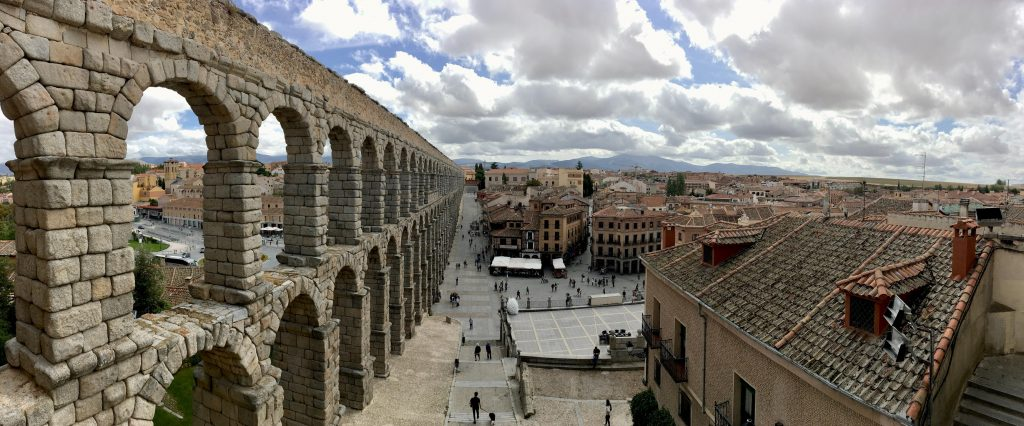 Aqueduct in Segovia, Spain.