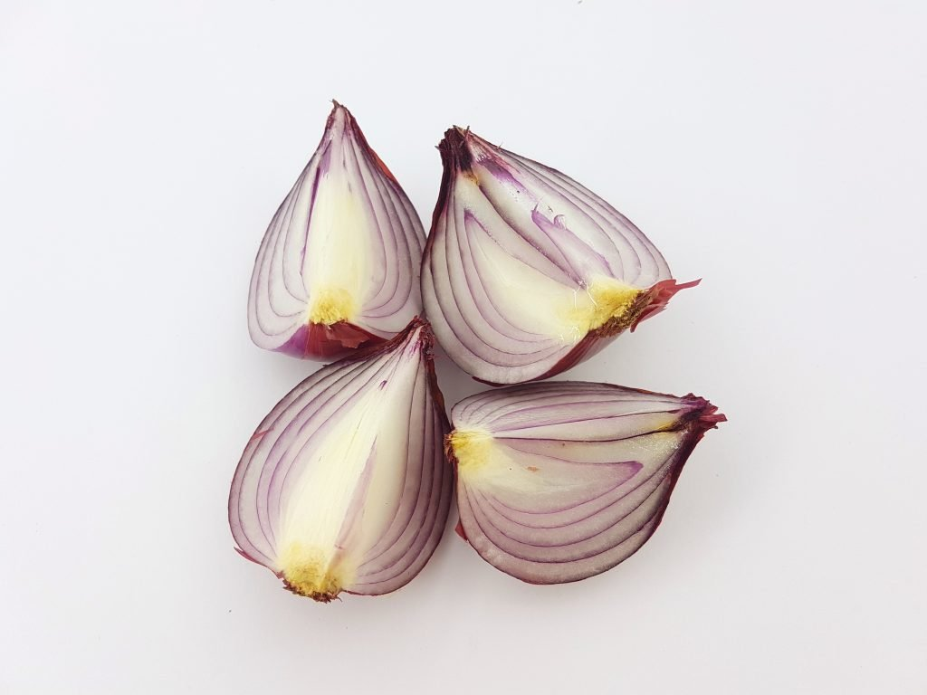 Sliced red onion - a good example of primary and secondary actions