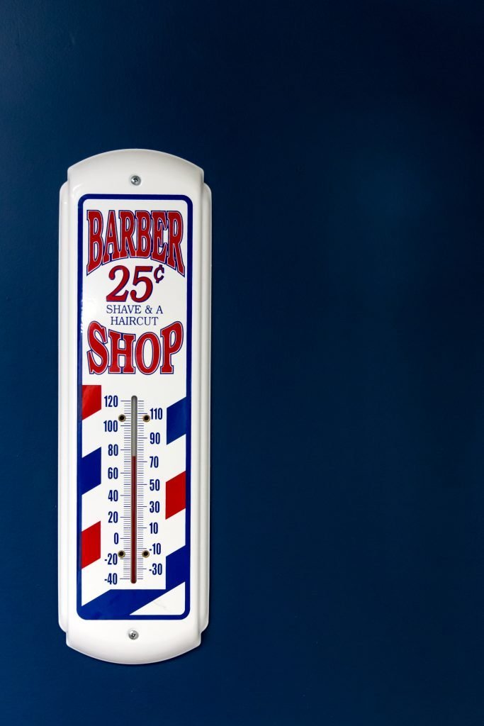 Barber Shop Thermometer