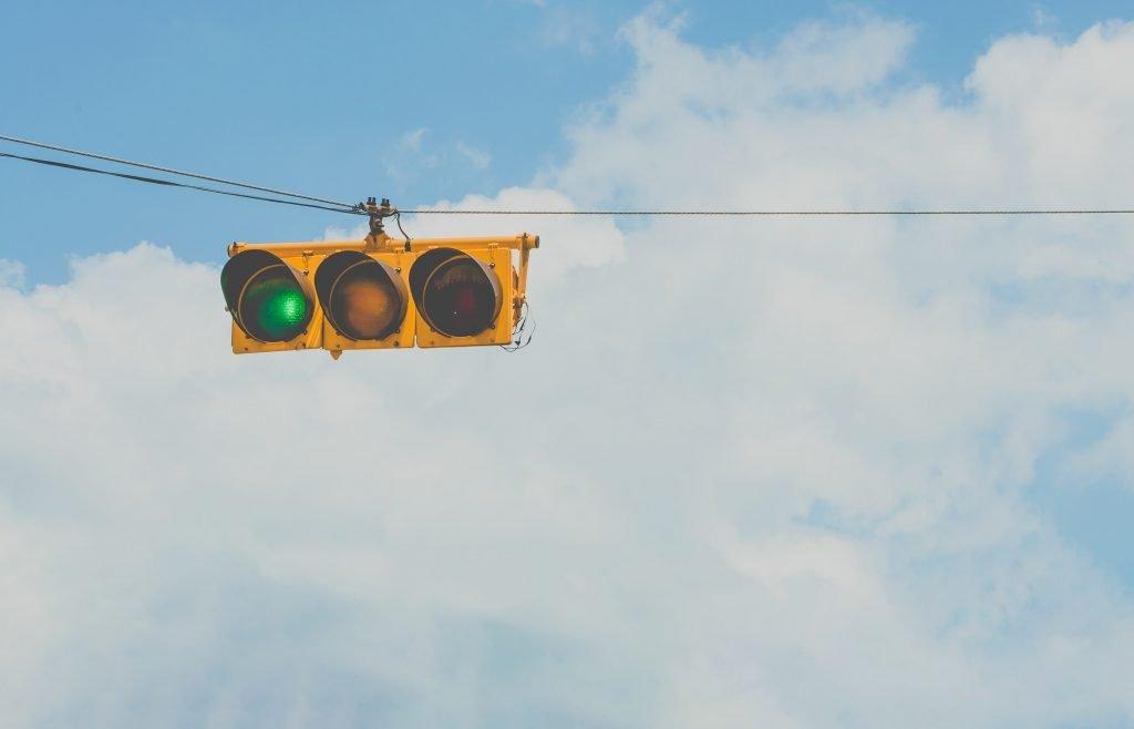traffic light at GO