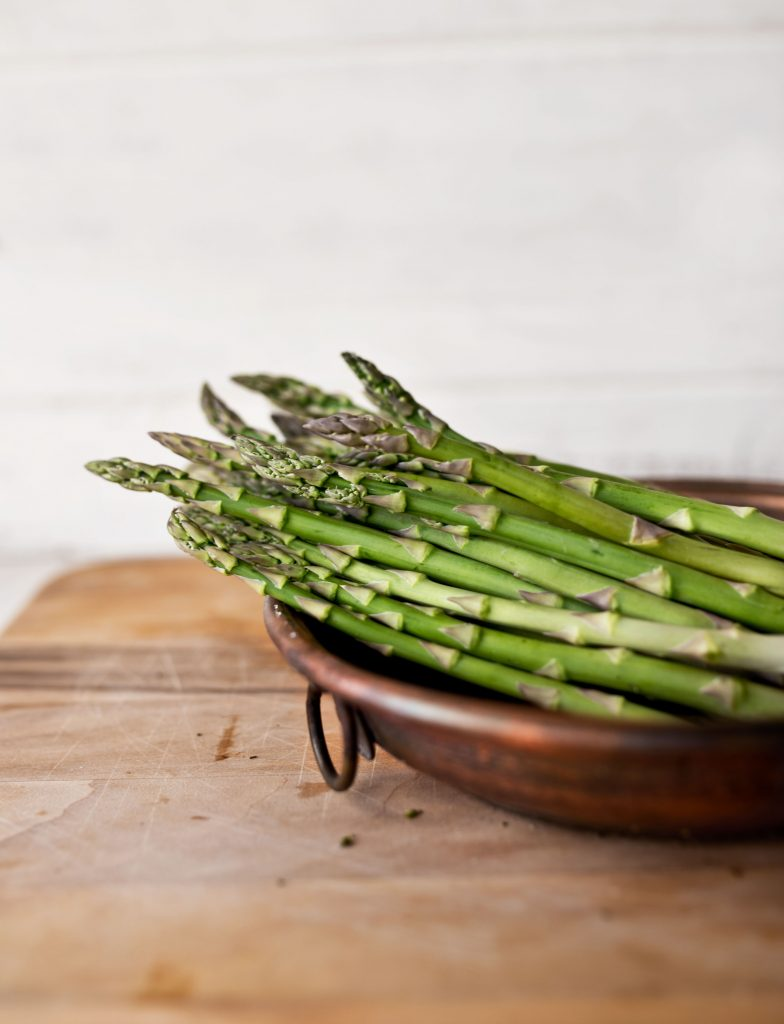 blood clearing foods such as bowl of green asparagus